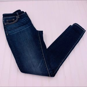 BKE Denim Gabby Skinny Jeans Dark High Rise 26R